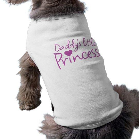 Daddys little princess sleeveless dog shirt