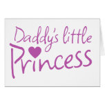 Daddys little princess stationery note card