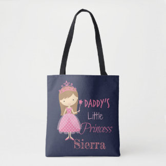 Daddys little princess tote bag