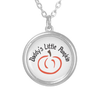 Daddys Little Pumpkin Silver Plated Necklace