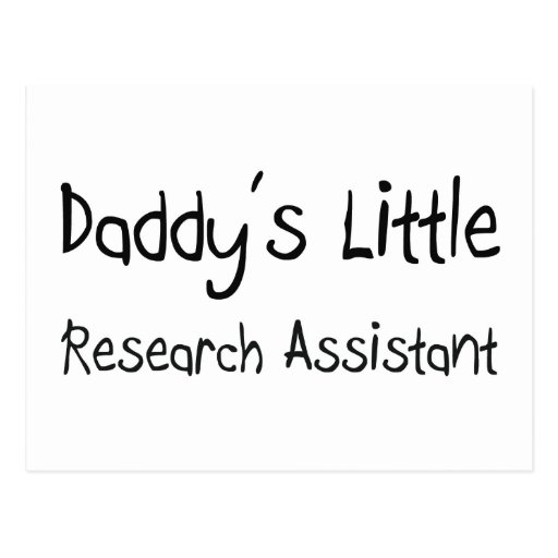 Daddy's Little Research Assistant Post Cards