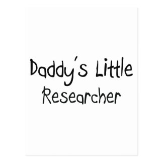Daddy's Little Researcher Post Card