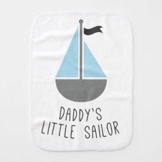 Daddy's Little Sailor Baby Burp Cloths