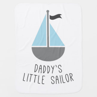 Daddy's Little Sailor Receiving Blankets
