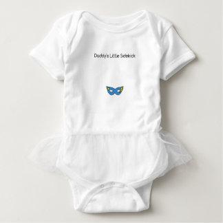 Daddy's Little Sidekick superhero mask blue Baby Bodysuit