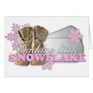 Daddys little Snowflake(pink) Card