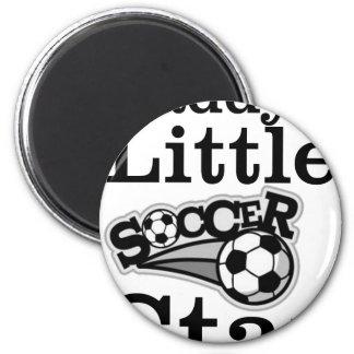 Daddy's Little Soccer Star 6 Cm Round Magnet