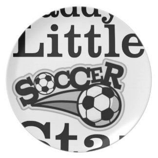 Daddy's Little Soccer Star Plate