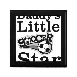 Daddy's Little Soccer Star Small Square Gift Box