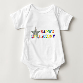 Daddy's little soldier baby baby bodysuit