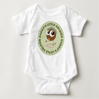 Daddy's Little Soldier Ethnic Baby Tee