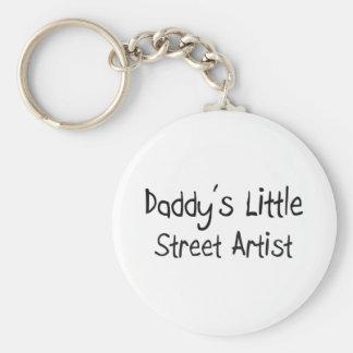 Daddy's Little Street Artist Basic Round Button Key Ring