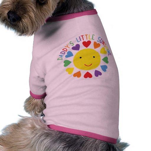 Daddy's Little Sunshine Dog Tshirt