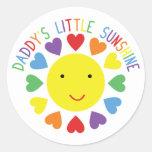 Daddy's Little Sunshine Round Stickers