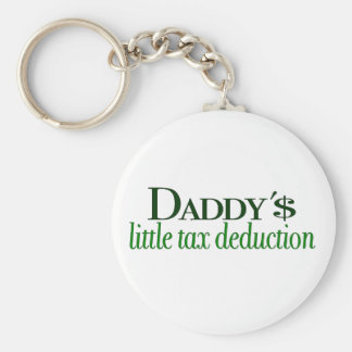 Daddy's little tax deduction basic round button key ring