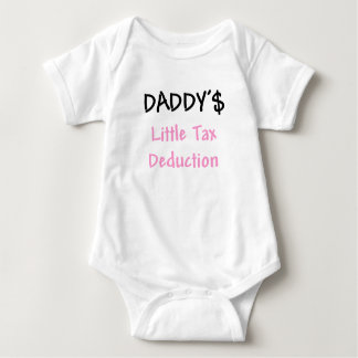 Daddys Little Tax Deduction Pink T Shirt