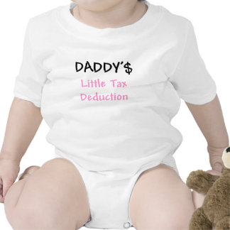 Daddys Little Tax Deduction Pink Tee Shirts