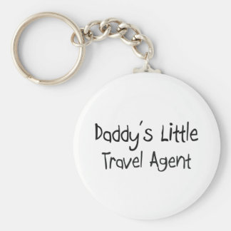 Daddy's Little Travel Agent Basic Round Button Key Ring