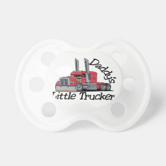 Daddys Little Trucker Baby Pacifier