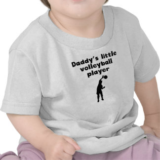 Daddy's Little Volleyball Player Shirt