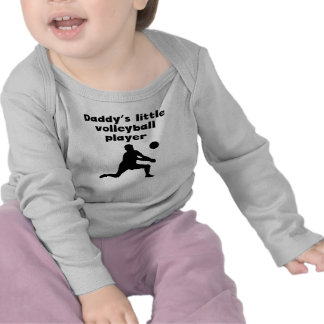 Daddy's Little Volleyball Player T-shirt