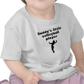 Daddy's Little Volleyball Player Tshirt