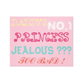 Daddy's Princess Canvas Print
