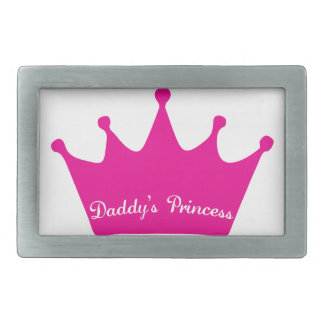 Daddy's Princess Rectangular Belt Buckle