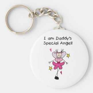 Daddy's Special Angel Basic Round Button Key Ring
