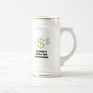 Daddy's tax deduction baby t-shirt coffee mug