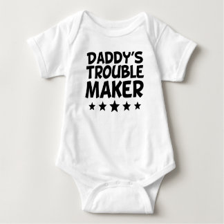 Daddy's Trouble Maker Baby Bodysuit