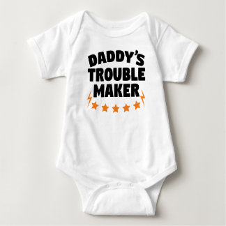Daddy's Trouble Maker Baby Bodysuit
