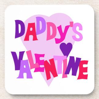 Daddy's Valentine Beverage Coasters