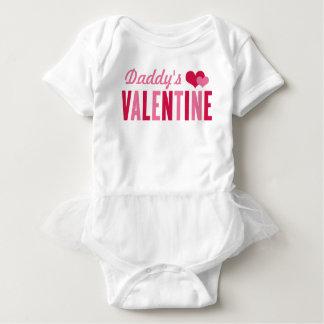 Daddy's Valentine   Valentine's Day Girls Baby Bodysuit