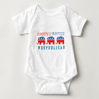 Daddys Wittle Weepublican.png Baby Bodysuit