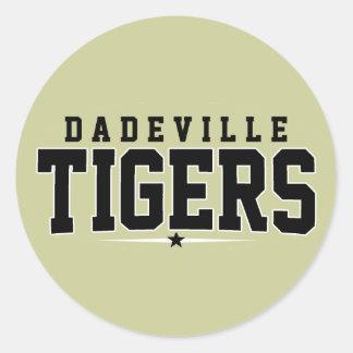 Dadeville High School; Tigers Round Sticker