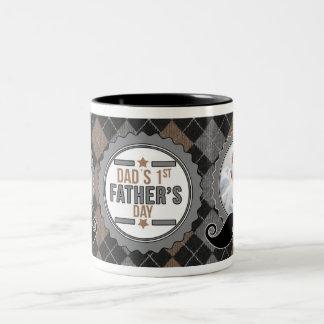 Dad's 1st Father's Day | Custom Mustache Photo Mug