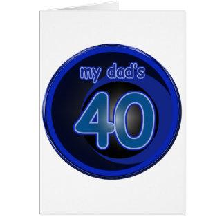 Dad's 40th Birthday Cards
