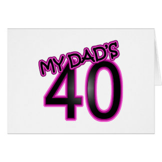 Dad's 40th Birthday Gifts Card
