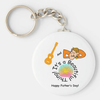 Dads and Ukes: It's a Beautiful Thing! Key Ring