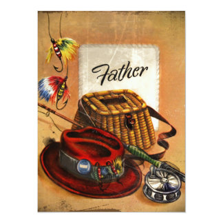 Dad's Bait and Tackle 14 Cm X 19 Cm Invitation Card