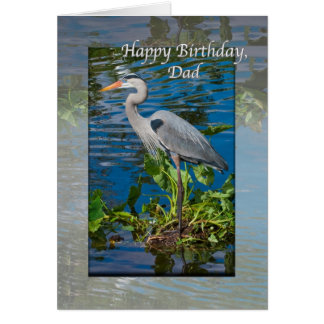Dad's Birthday, Great Blue Heron Card
