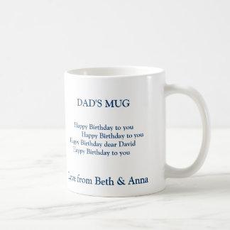 dad's birthday mug, DAD'S MUG,       Happy Birt... Coffee Mug