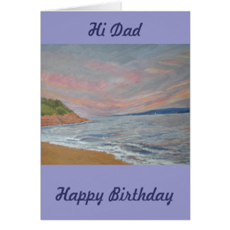 Dad's Birthday Orcombe Point Exmouth Devon UK Card