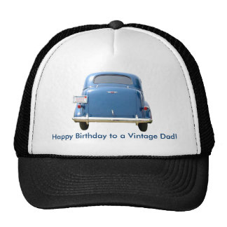Dad's Birthday Vintage Blue Chevy Cap - Your Name!