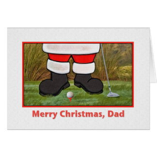 Dad's Christmas Card with Golfing Santa