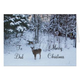 Dad's Christmas-Deer Card