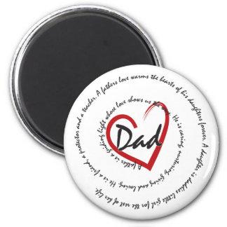 DADS - Dad Love 6 Cm Round Magnet