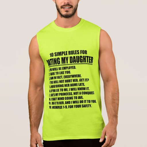 Dad's Dating Rules Tee Shirt