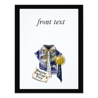 Dads Favorite Earth Shirt For Father's Day 4.25x5.5 Paper Invitation Card
